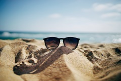 shades on the beach
